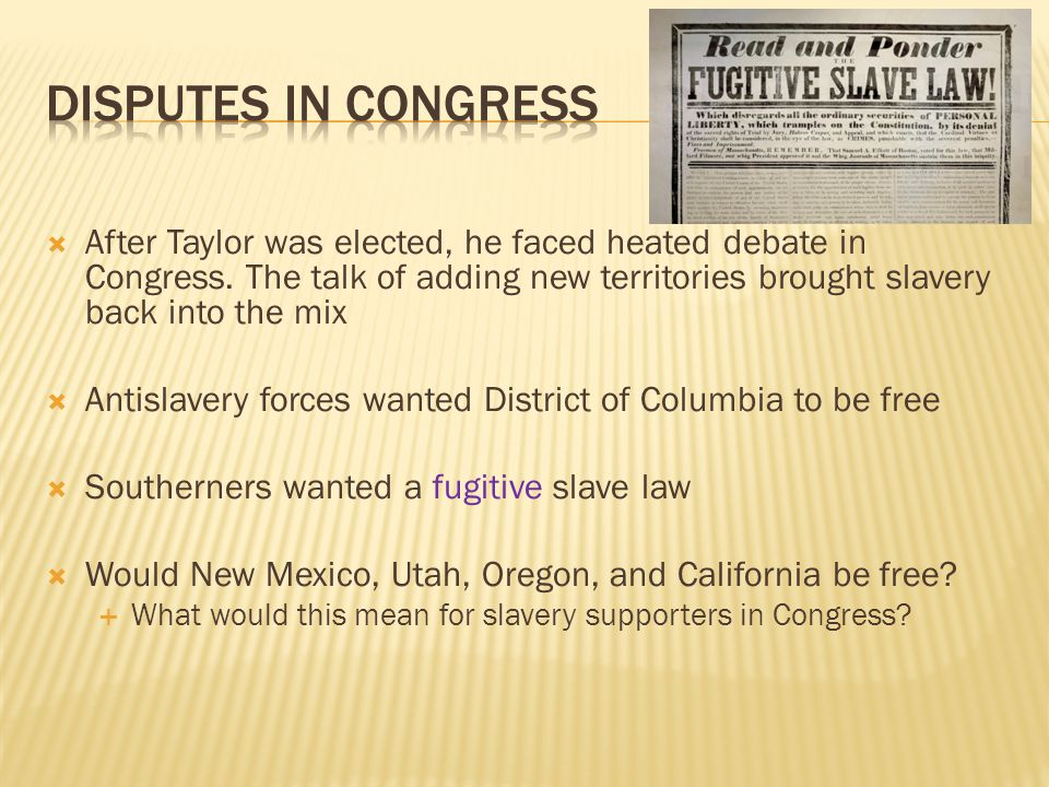 Disputes in Congress