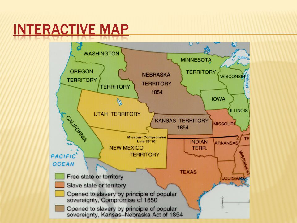 Road To Civil War Chapter Ppt Download - Missouri compromise interactive map