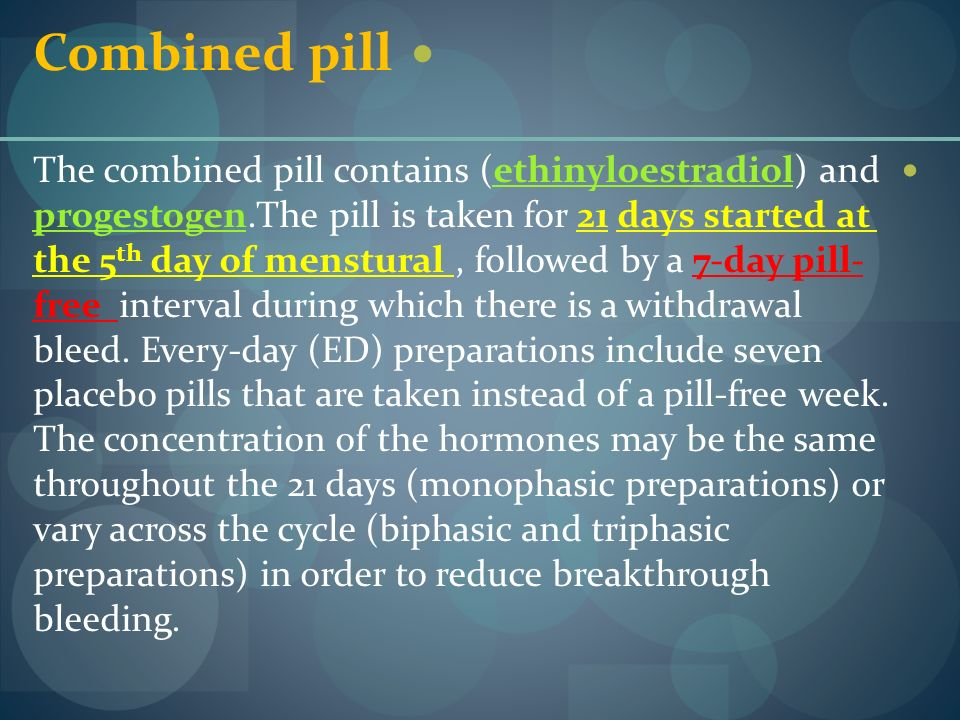 Combined pill