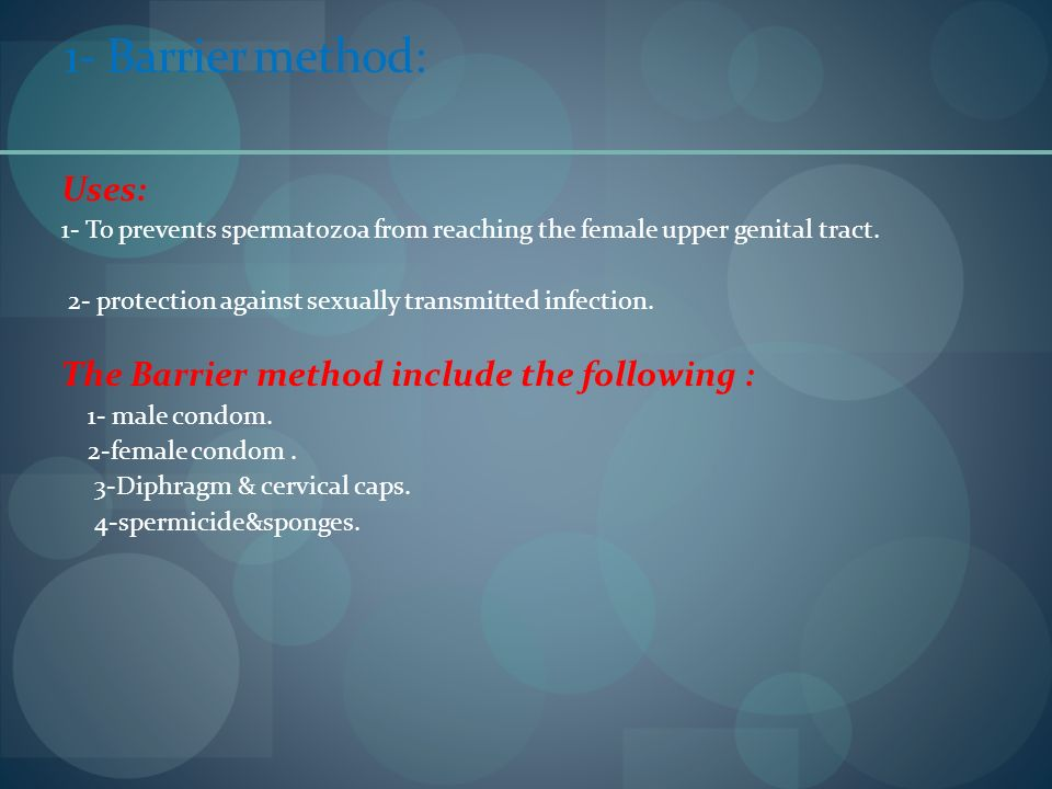 1- Barrier method: Uses: The Barrier method include the following :