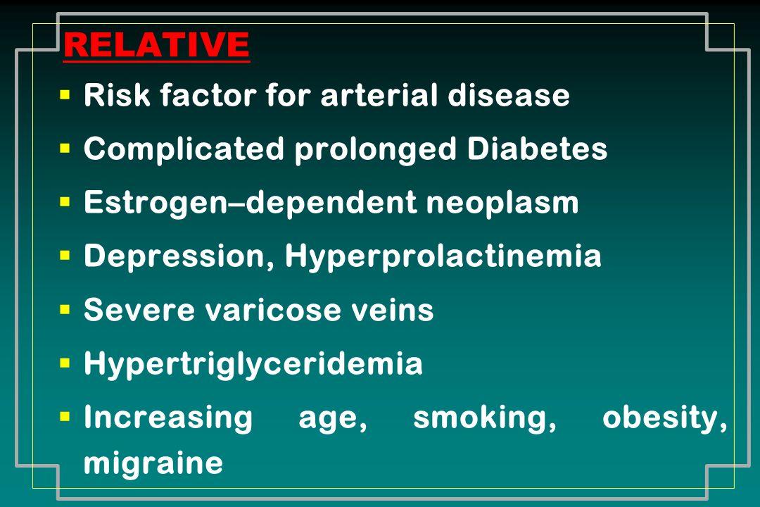 RELATIVE Risk factor for arterial disease