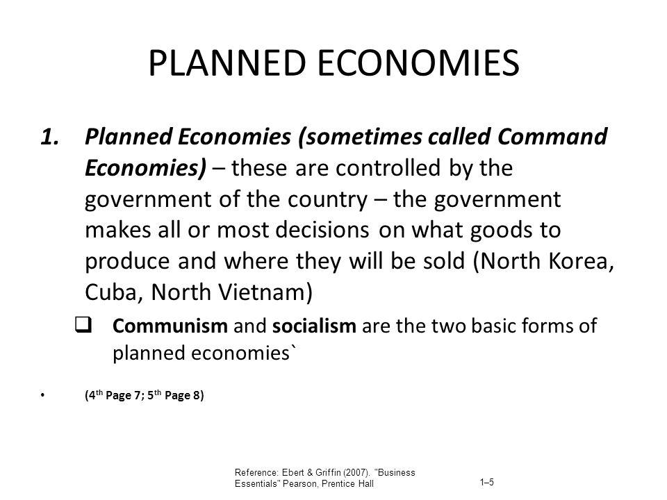 PLANNED ECONOMIES