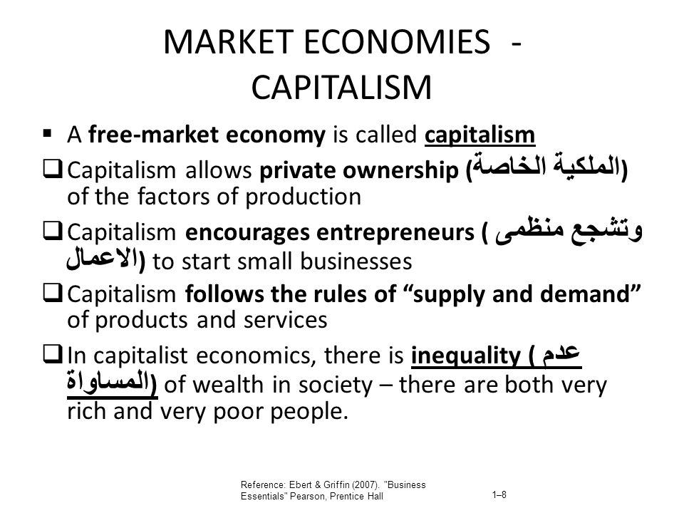 MARKET ECONOMIES - CAPITALISM