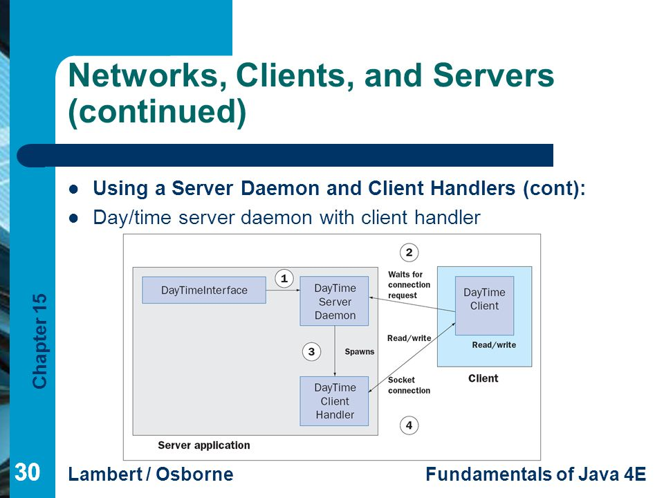 Networks, Clients, and Servers (continued)