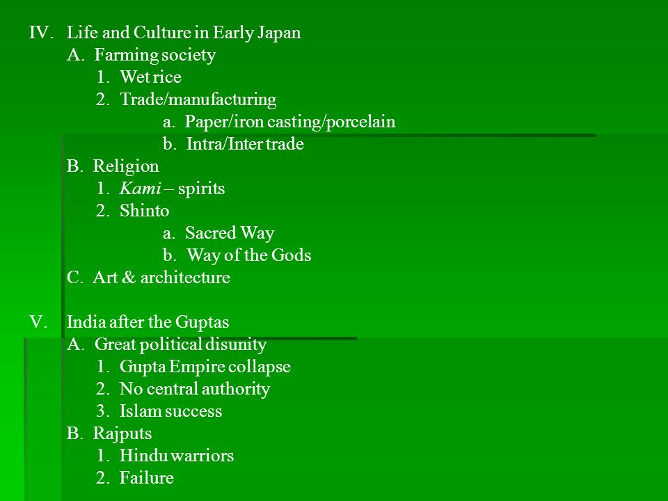 Life and Culture in Early Japan