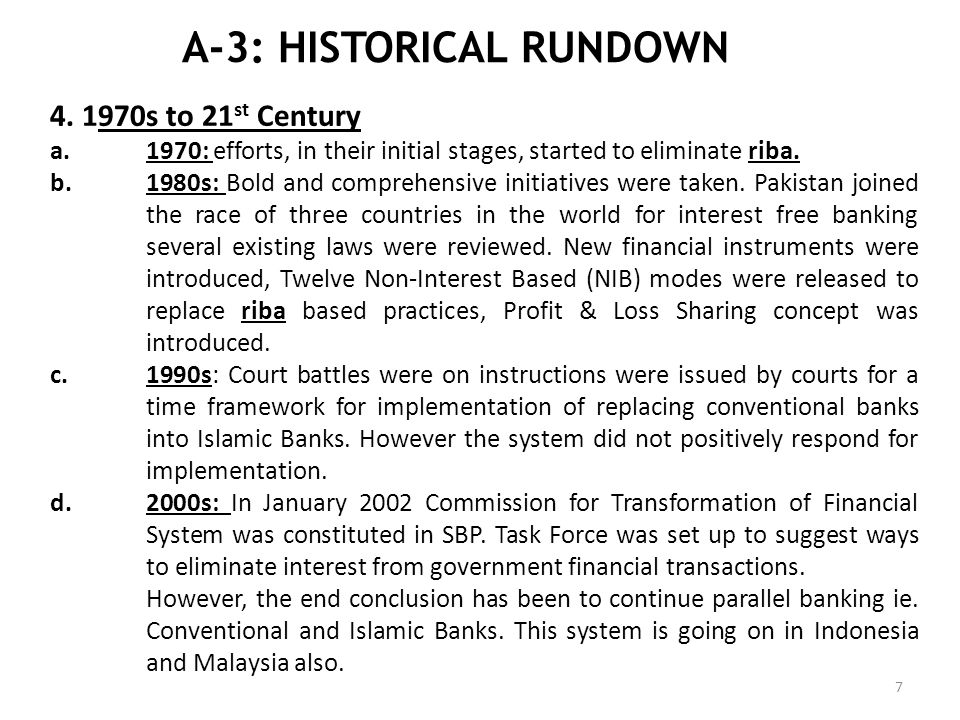 A-3: HISTORICAL RUNDOWN