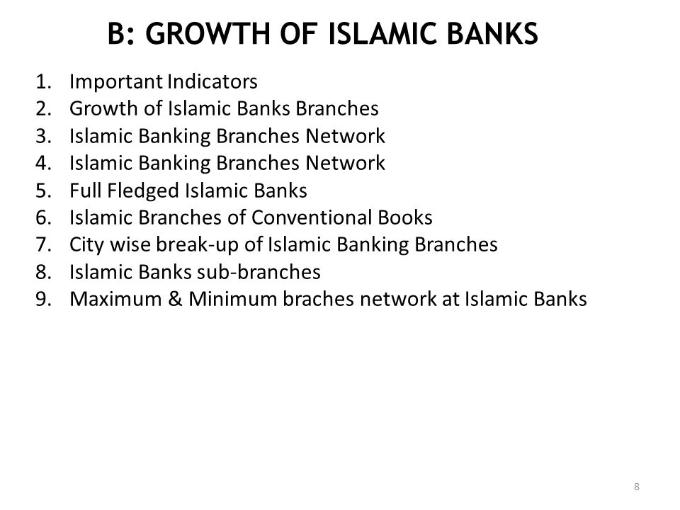 B: GROWTH OF ISLAMIC BANKS
