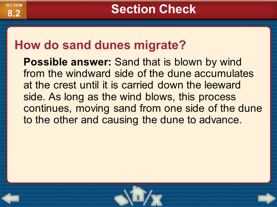 How do sand dunes migrate