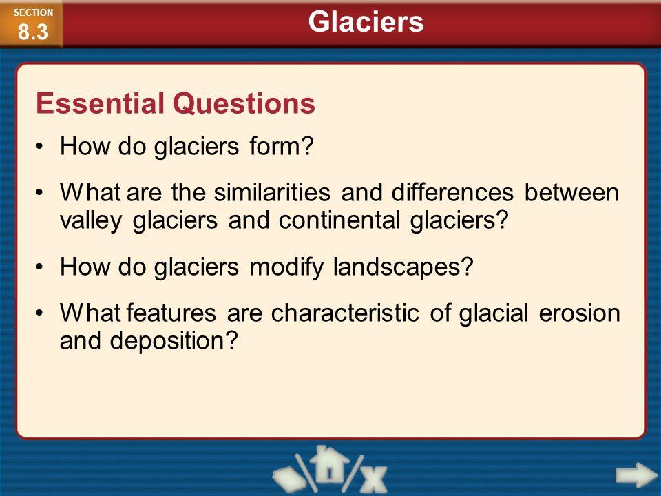 Glaciers Essential Questions How do glaciers form
