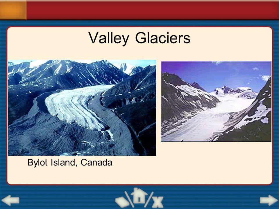 Valley Glaciers Bylot Island, Canada