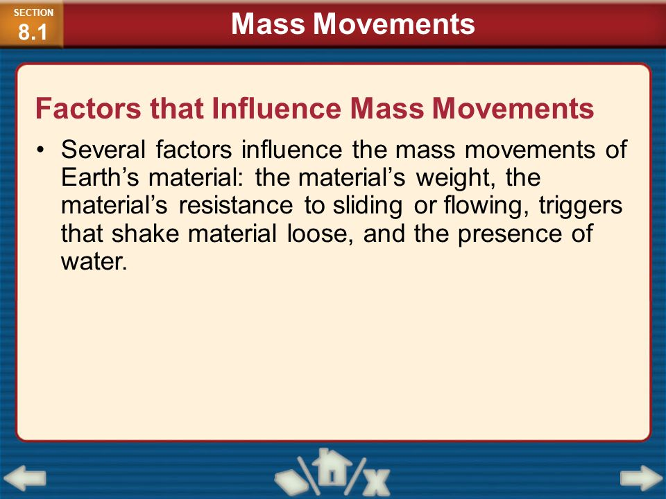 Factors that Influence Mass Movements