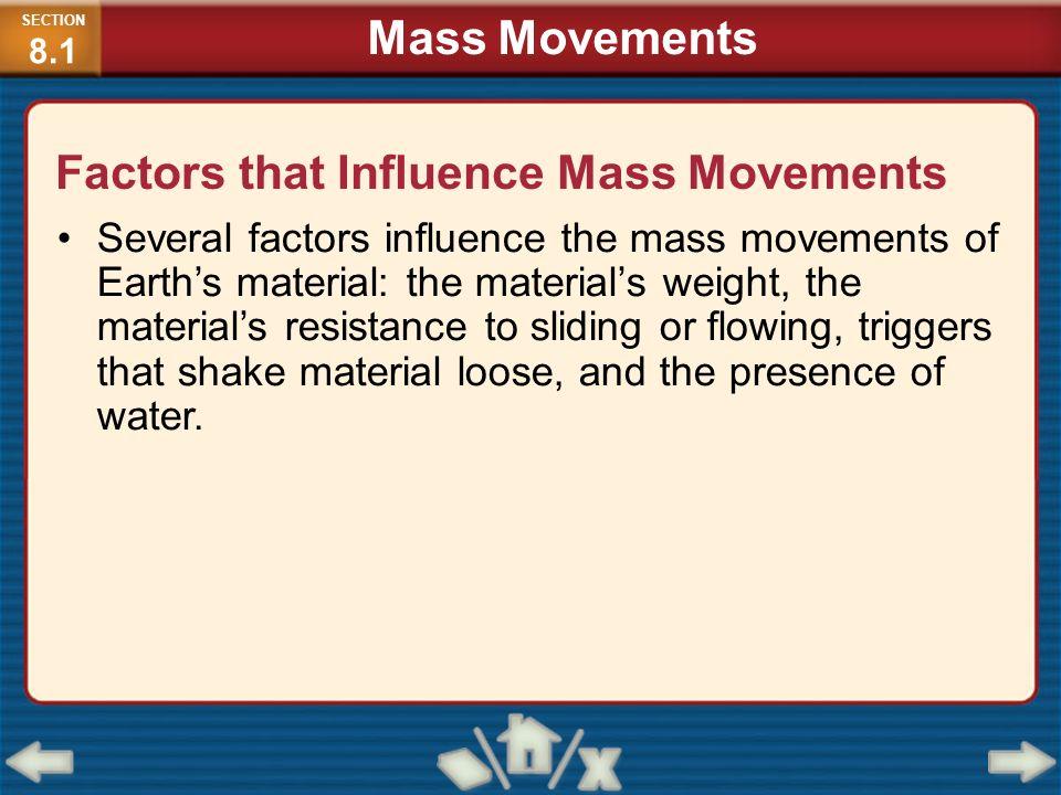 Factors that Influence Mass Movements