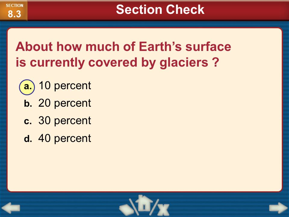 About how much of Earth's surface is currently covered by glaciers
