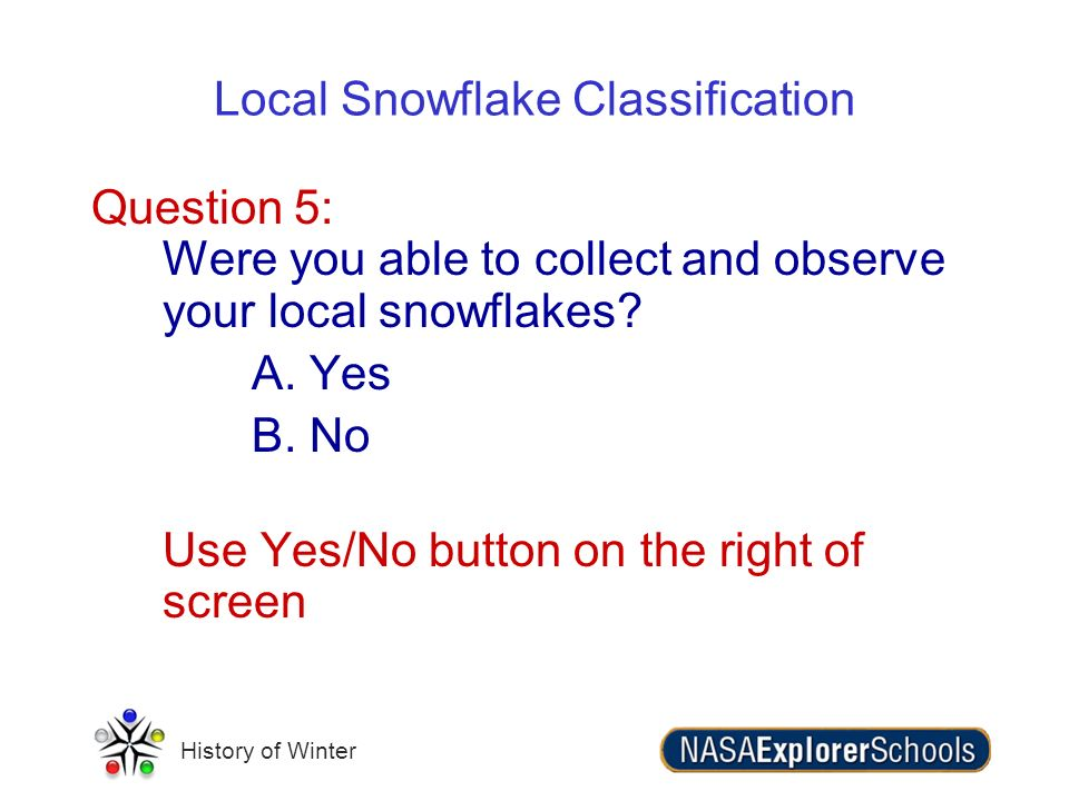 Local Snowflake Classification
