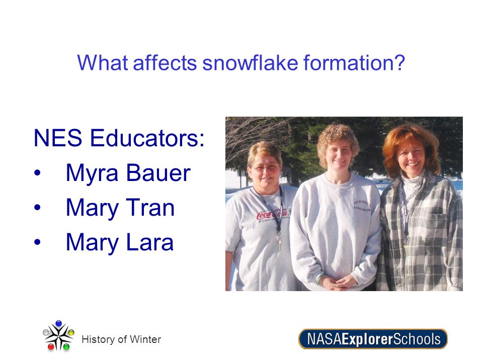 What affects snowflake formation