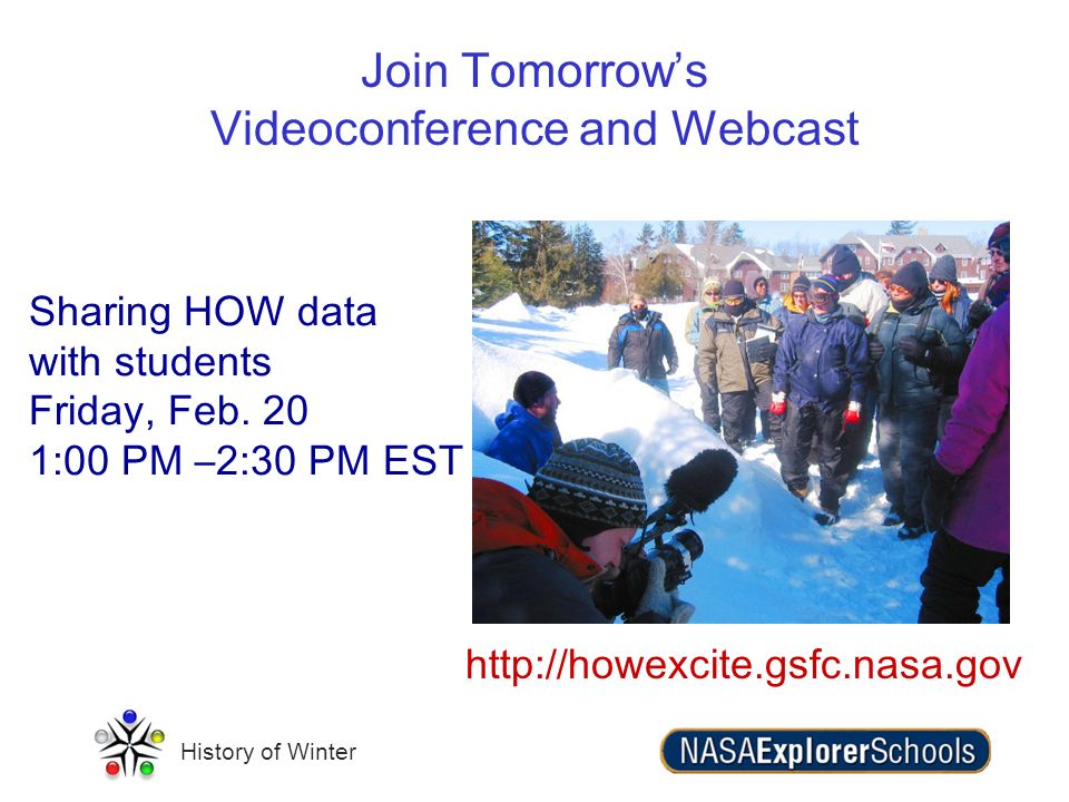 Join Tomorrow's Videoconference and Webcast