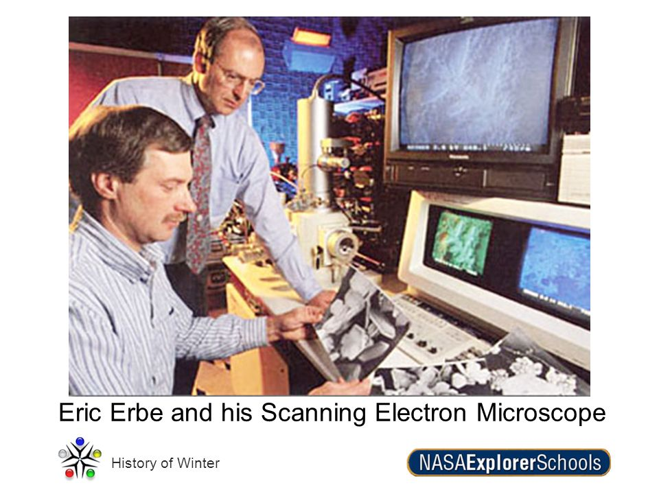 Eric Erbe and his Scanning Electron Microscope
