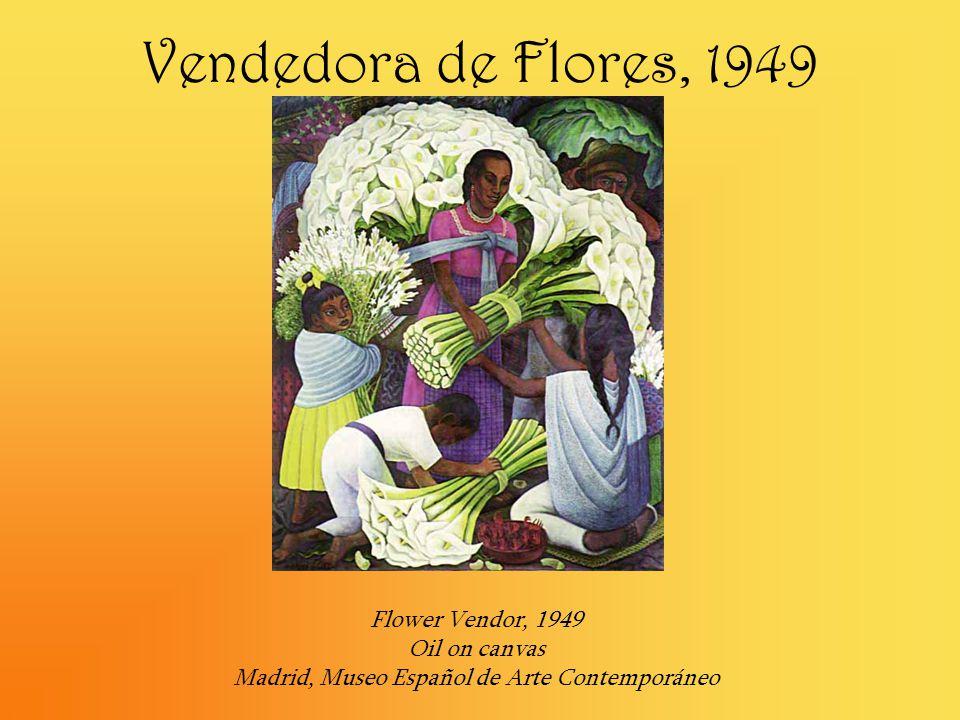 Vendedora de Flores, 1949 Flower Vendor, 1949 Oil on canvas Madrid, Museo Español de Arte Contemporáneo.
