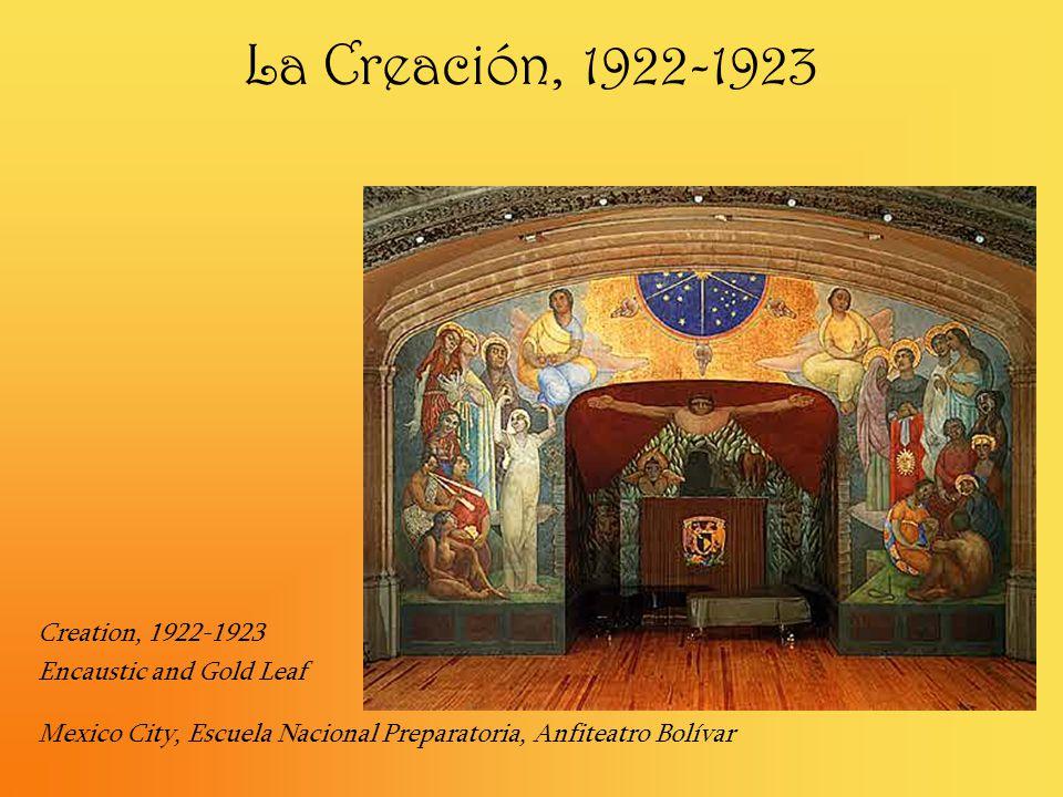 La Creación, 1922-1923 Creation, 1922-1923 Encaustic and Gold Leaf