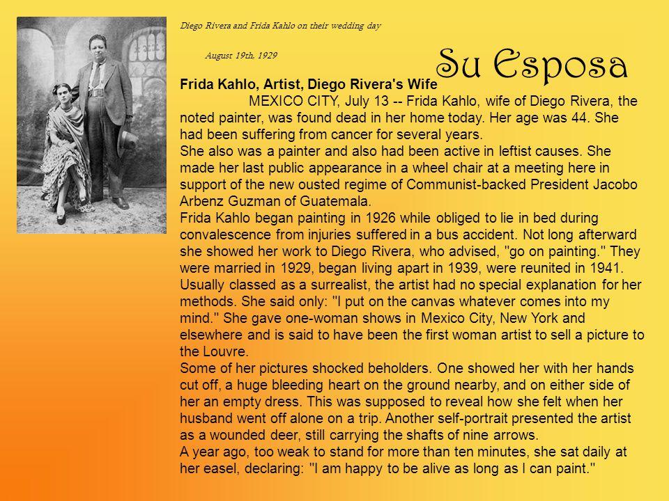 Su Esposa Frida Kahlo, Artist, Diego Rivera s Wife