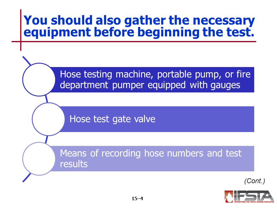 You should also gather the necessary equipment before beginning the test.