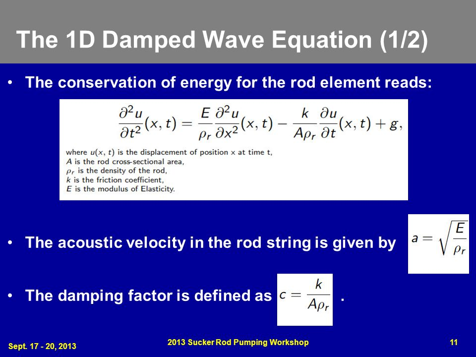 The 1D Damped Wave Equation (1/2)
