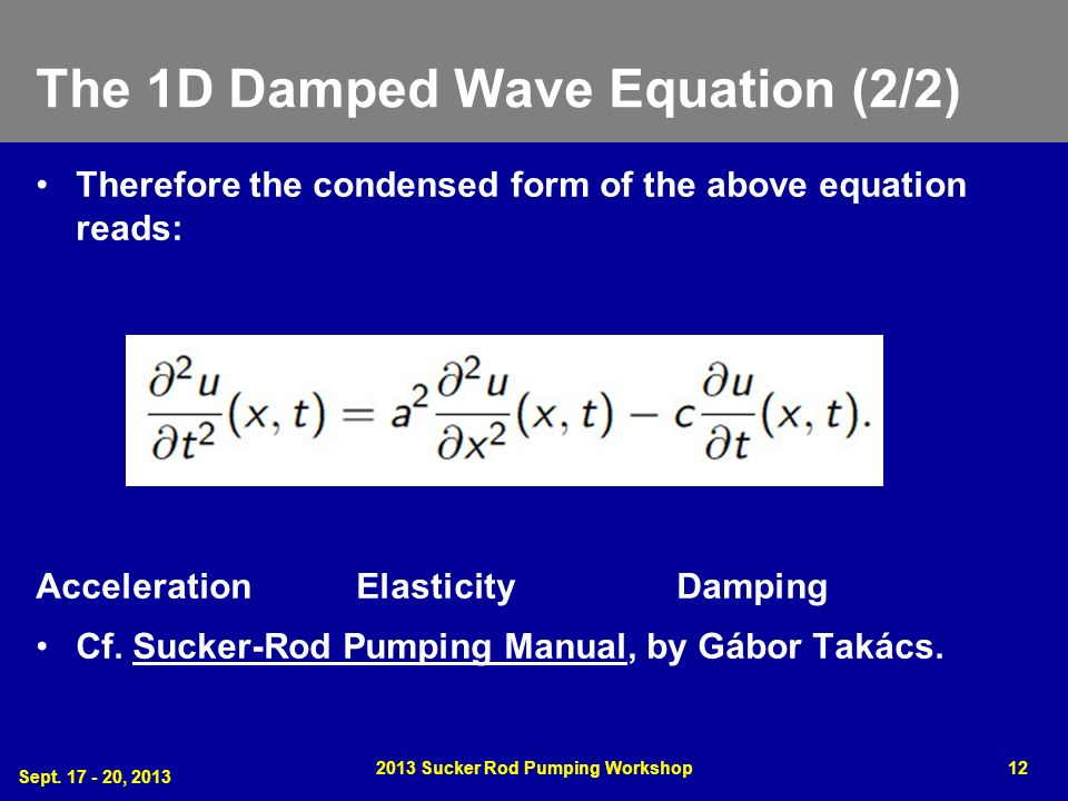 The 1D Damped Wave Equation (2/2)