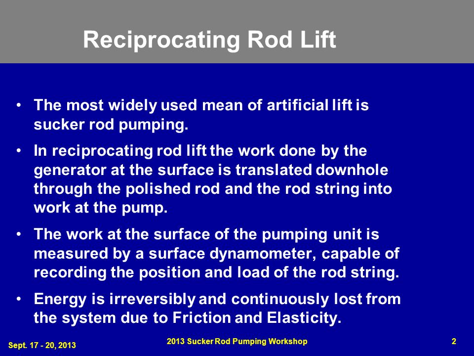 Reciprocating Rod Lift