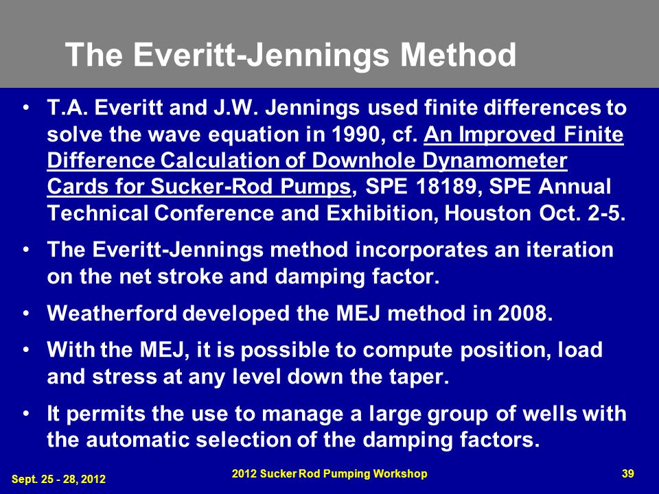 The Everitt-Jennings Method