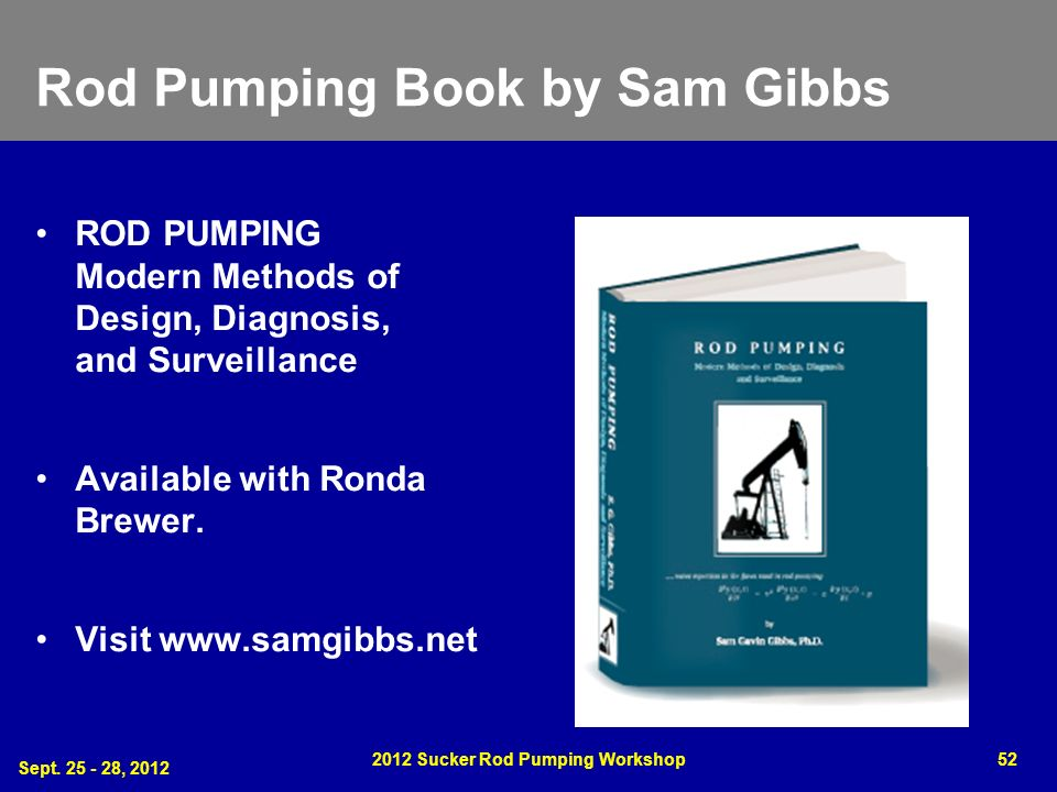 Rod Pumping Book by Sam Gibbs