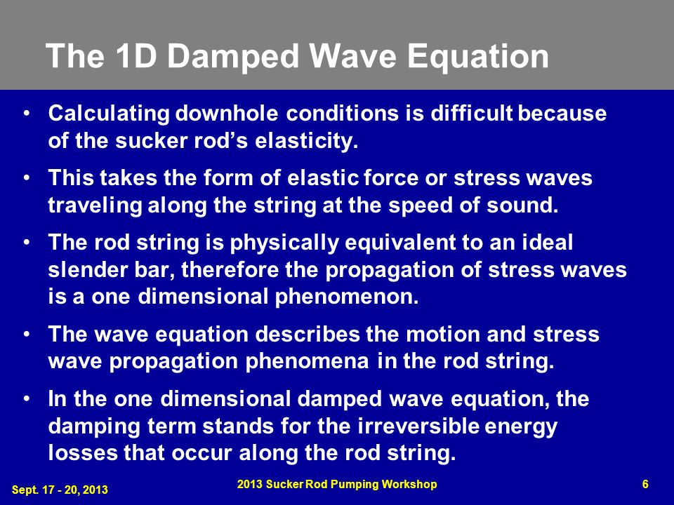 The 1D Damped Wave Equation