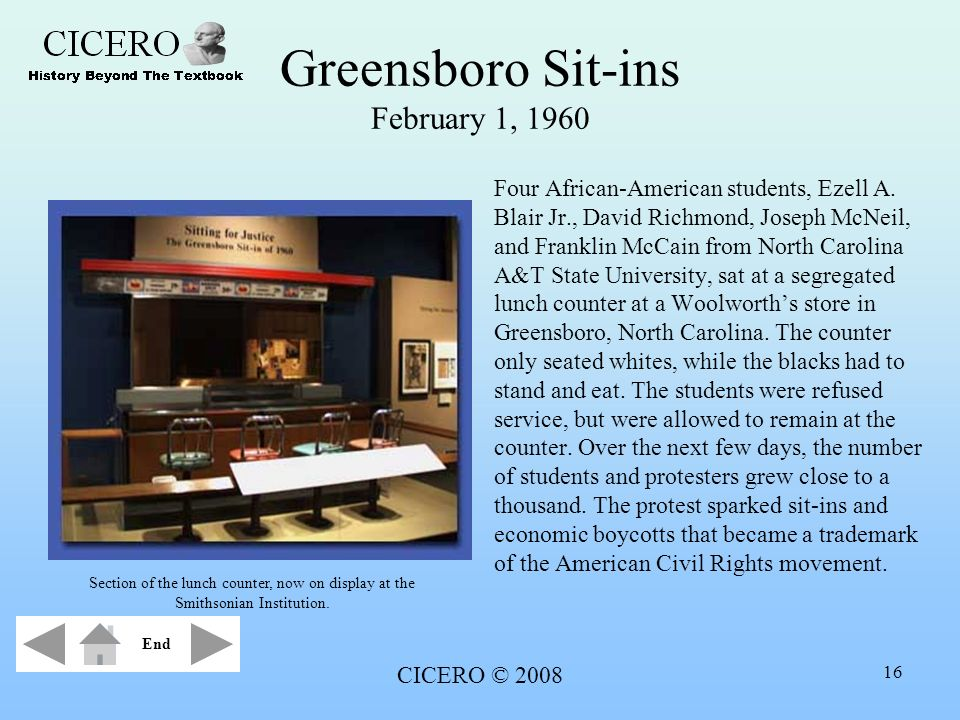 Greensboro Sit-ins February 1, 1960