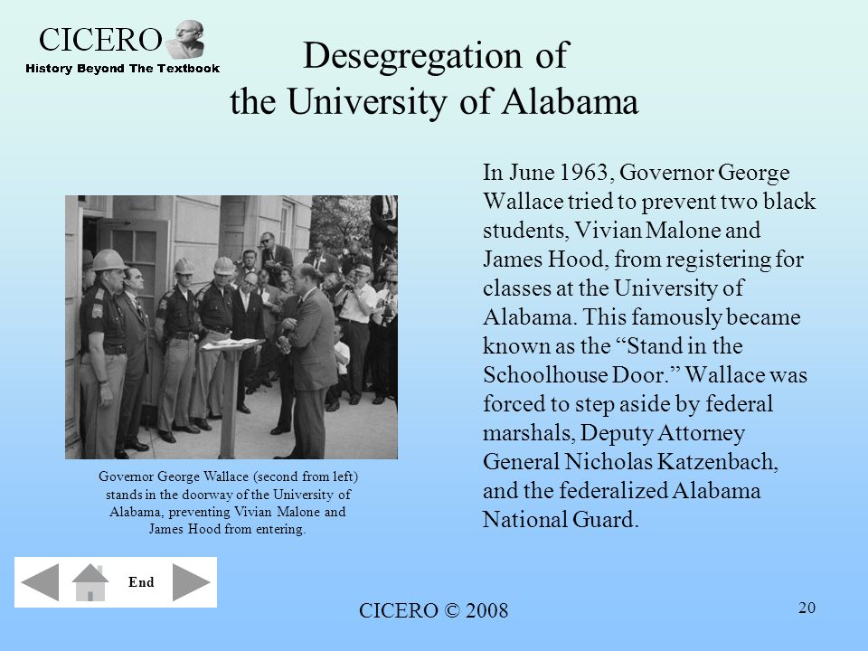 Desegregation of the University of Alabama