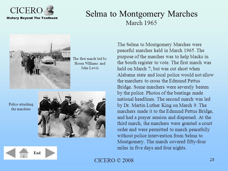 Selma to Montgomery Marches March 1965