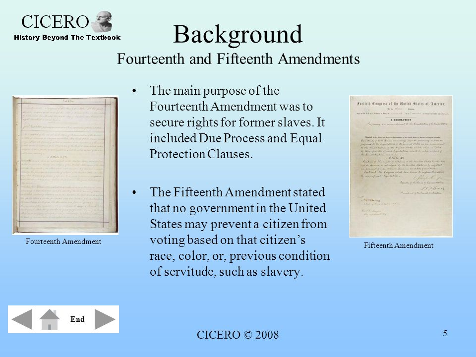 Background Fourteenth and Fifteenth Amendments