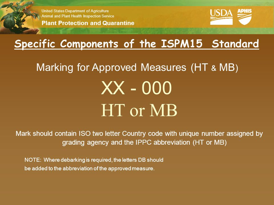 Specific Components of the ISPM15 Standard