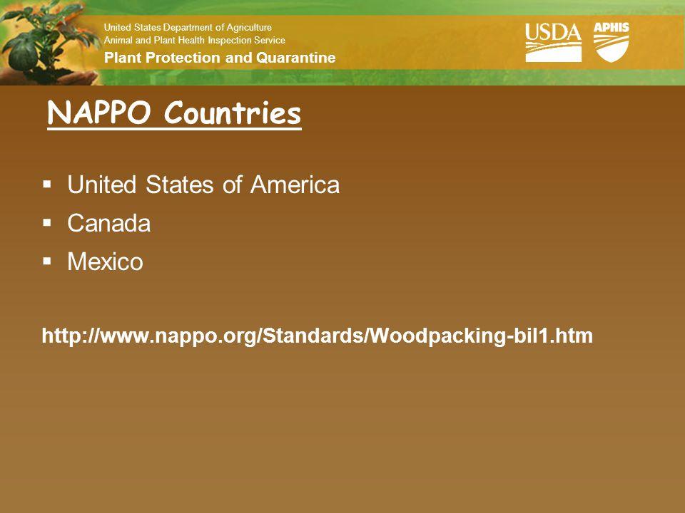 NAPPO Countries United States of America Canada Mexico