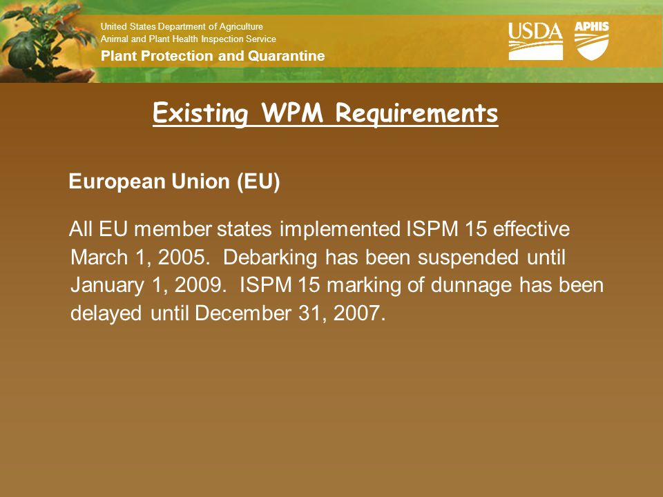 Existing WPM Requirements