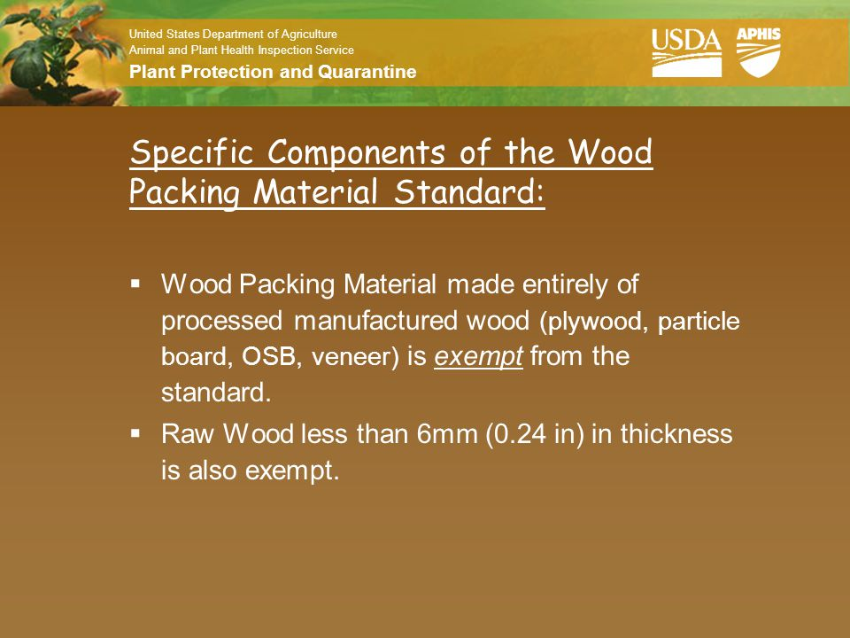 Specific Components of the Wood Packing Material Standard: