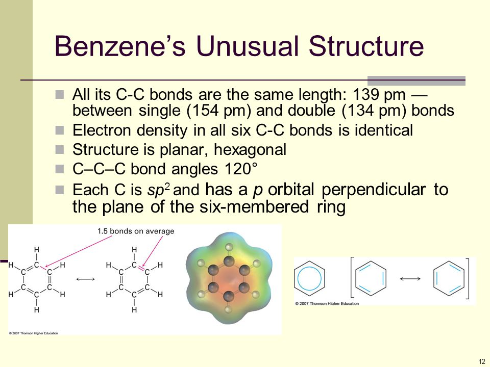 Benzene's Unusual Structure