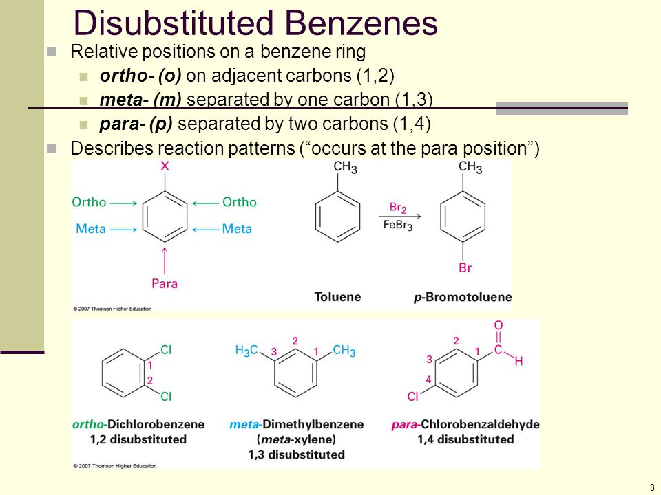 Disubstituted Benzenes