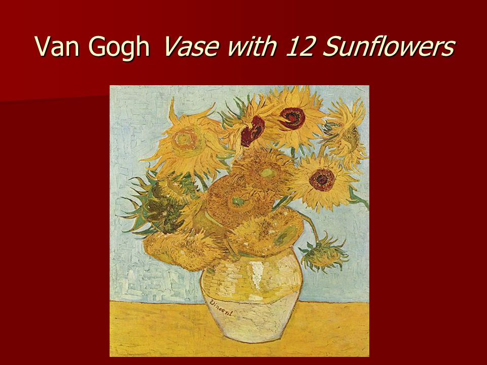 Van Gogh Vase with 12 Sunflowers