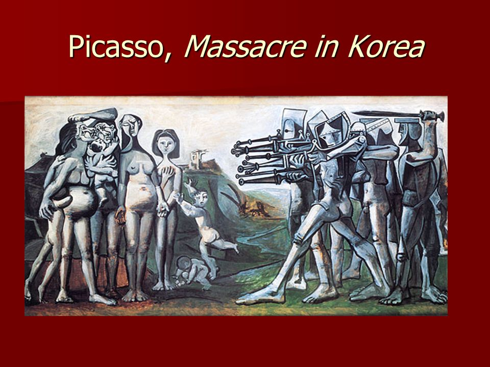 Picasso, Massacre in Korea