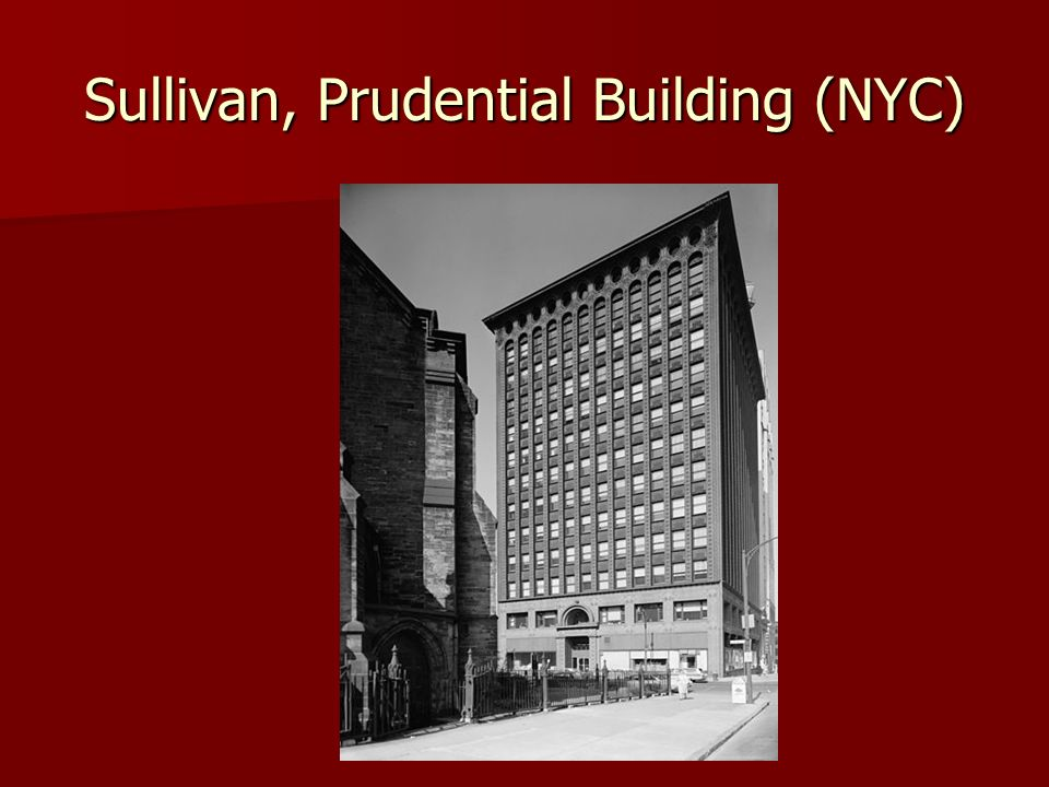 Sullivan, Prudential Building (NYC)