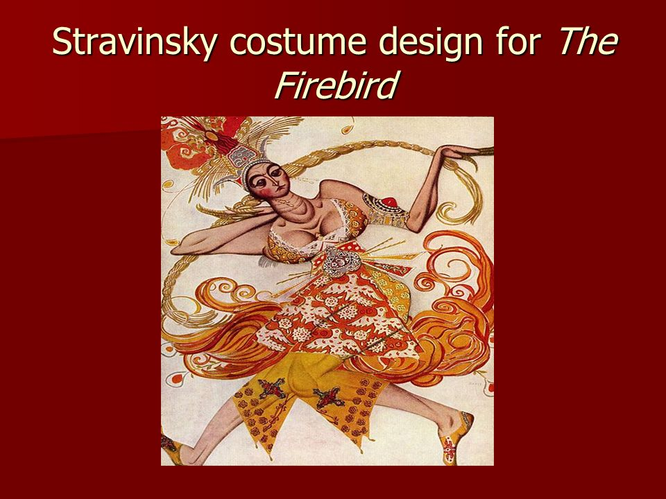 Stravinsky costume design for The Firebird
