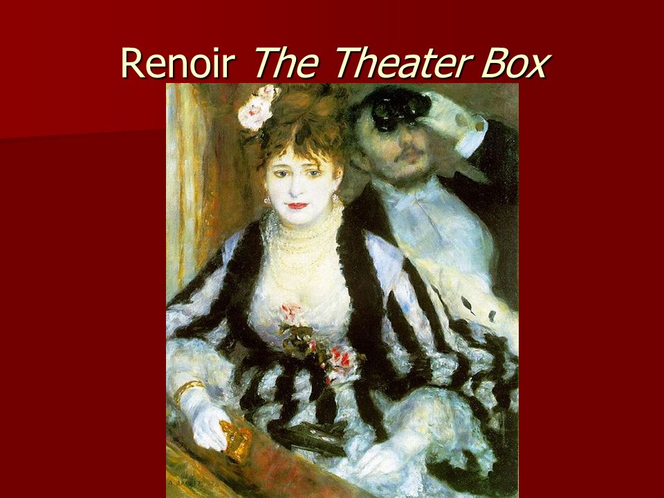 Renoir The Theater Box