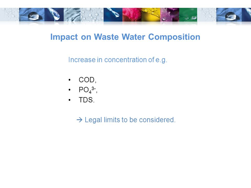 Impact on Waste Water Composition