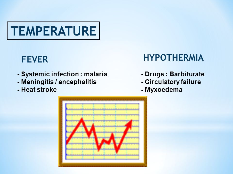TEMPERATURE HYPOTHERMIA FEVER - Systemic infection : malaria