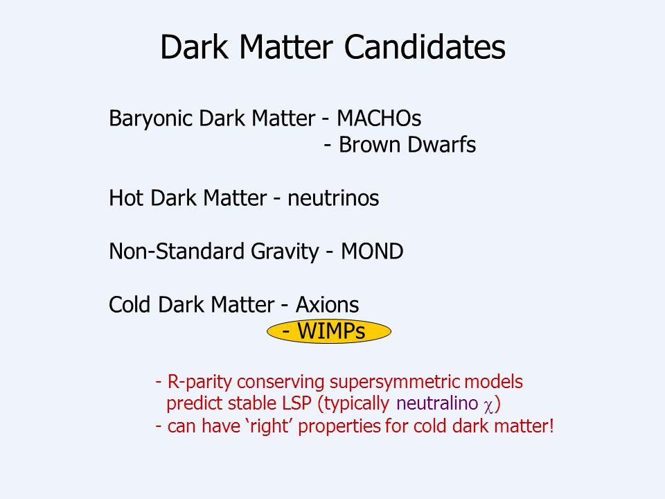 Dark Matter Candidates