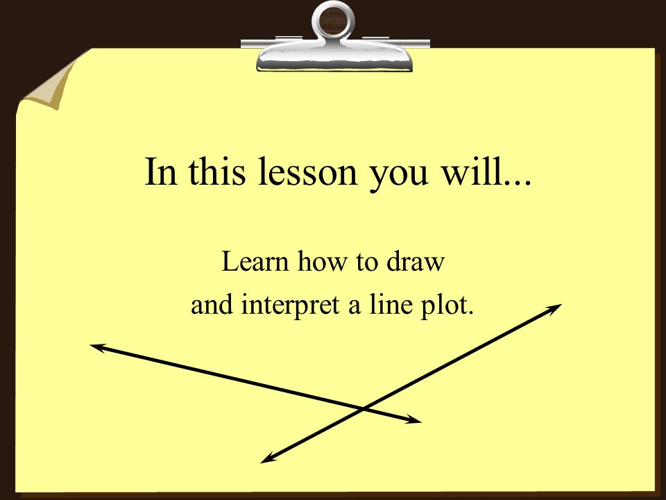 Learn how to draw and interpret a line plot.